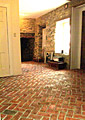 Our Front Hall with Inglenook brick tiles