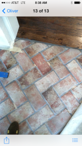 Brick tile with custom color mix