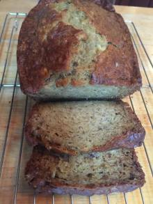 Banana bread baked