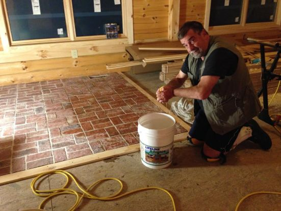 Installing thin brick tile